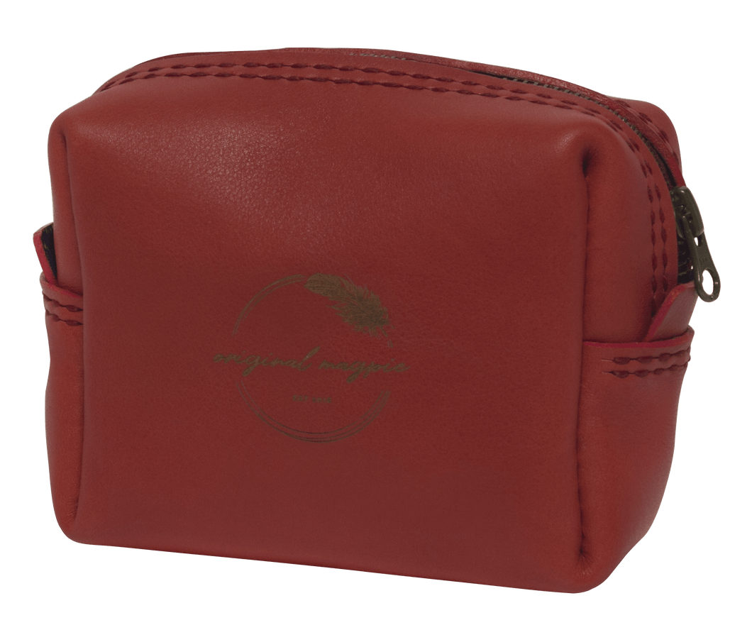 Red leather bag shweshwe