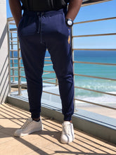 Royal Weave Joggers_Navy Fleece & Shweshwe