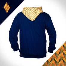 Sun_Hooded_Weave_Navy_Yellow_shweshwe_fleece_Hoodie_Back