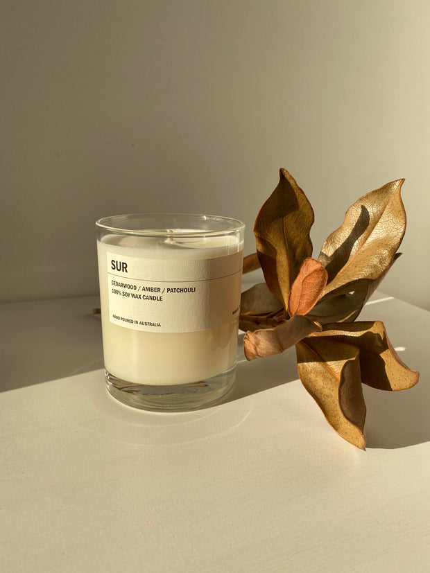 Posie candle SUR - Cedarwood / Amber / Patchouli 300g - simplebeautifulthings