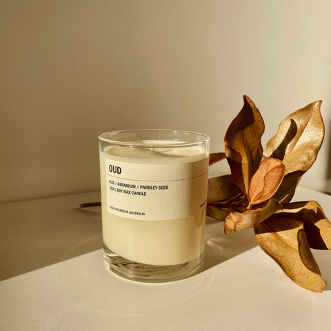 Posie candle OUD - Oudwood / Geranium / Parsley seed 300g - simplebeautifulthings