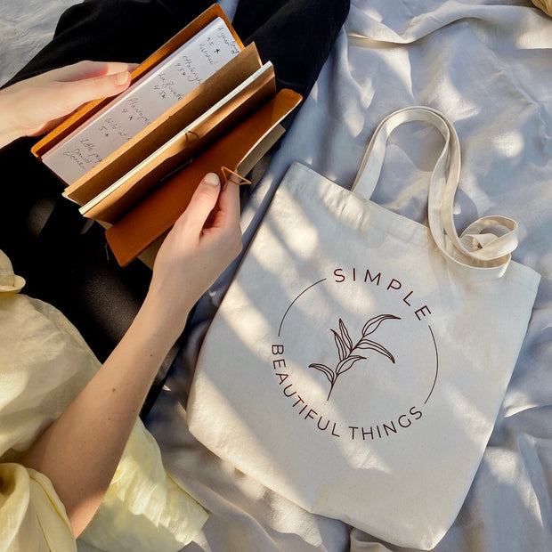 Simple Beautiful Things Merch Tote by Baggu