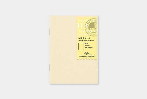 Traveler's Notebook Refill - Blank Cream, Passport size - simplebeautifulthings