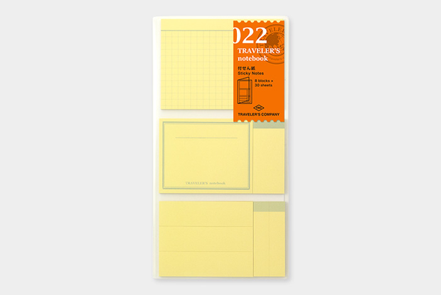 Traveler's notebook. Sticky notes to index, create memo's and to-do list. 5 sizes with 30 sheets.