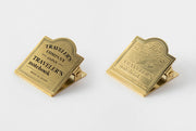 Traveler's Notebook Accessories - Brass clip Airplane - simplebeautifulthings