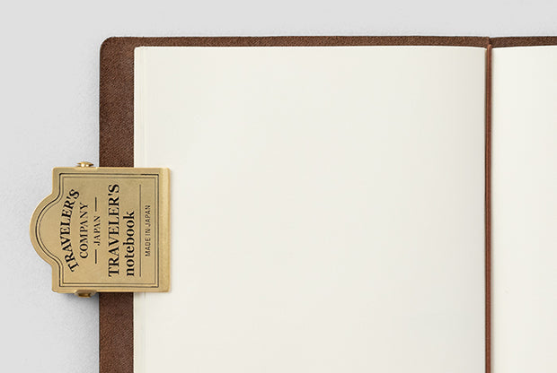 Traveler's Notebook Accessories - Brass clip Logo - simplebeautifulthings