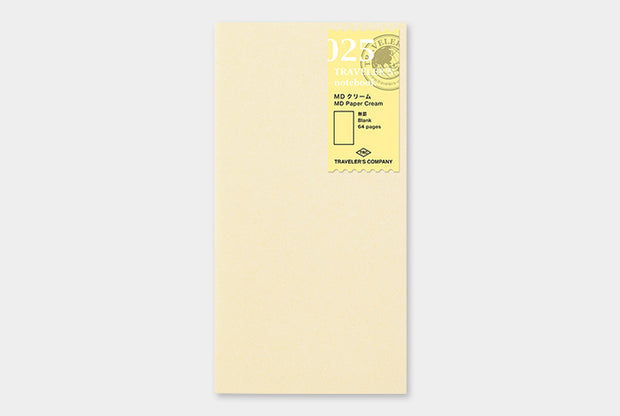 Traveler's Notebook Refill - Blank Cream - simplebeautifulthings