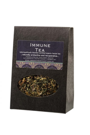 Herbal tea. Ingredients are Echinacea, Yarrow, Peppermint, Elder Berry, Rosehip, Ginger, Lemon Peel, Elderflower.