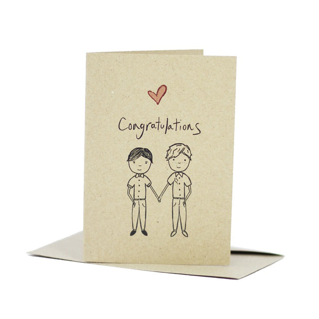 mr-and-mr-wedding-congratulations-kraft-card-deer-daisy_Simple_Beautiful_Things