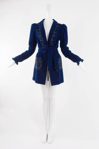 Klein Blue Velvet Jacket