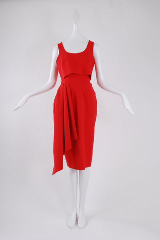 Greta Constantine Lourange Dress in Red