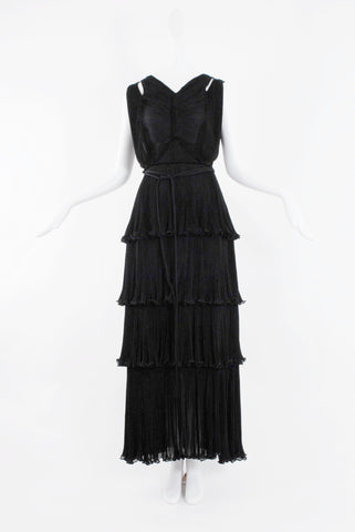 Isabel Toledo Cascade Starburst Black Sleeveless Jersey Gown