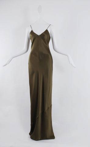 Nili Lotan Cami Gown in Olive