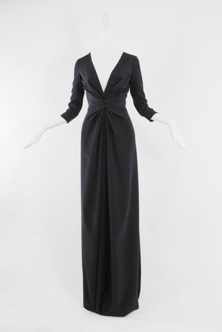 Dhela Gown 3/4 sleeve in Black