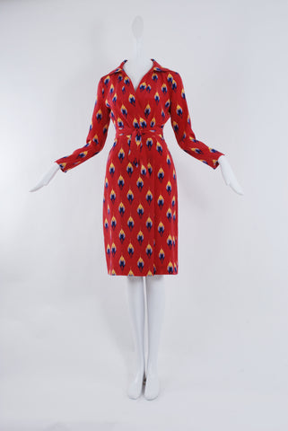 Dhela Shirt Dress in Red