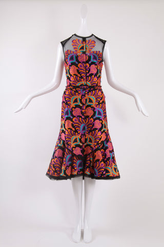 Isabel Toledo Pueblo Lace Dress in Multi