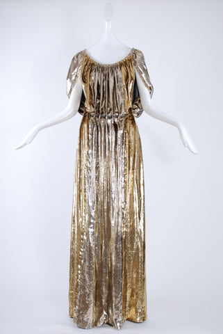 Isabel Toledo Gold Lame Dress