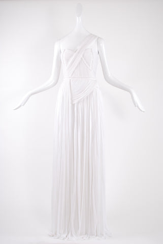 Isabel Toledo Draped Dress With Strap In White