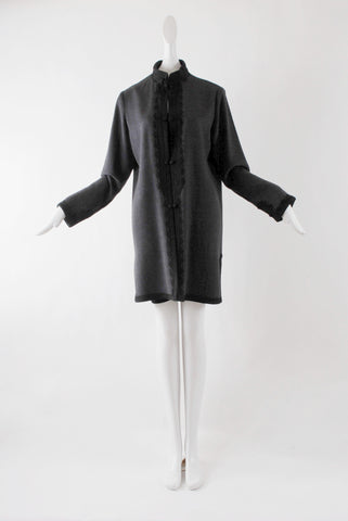 Zuzu Cashmere Coat in Grey