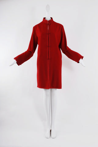 Zuzu Cashmere Coat in Red