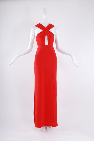 Jessica Choay Courtesan Dress in Red