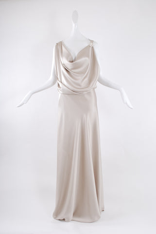 Francesca Rosafio Long Dress in Champagne