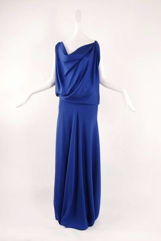 Francesca Rosafio Long Dress  in Saphire Blue