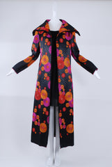 Isabel Toledo High Collar Coat in Multi