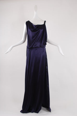 Francesca Rosafio Long Dress in Midnight