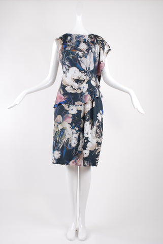 Thakoon Floral Print Side Ruffle Dress