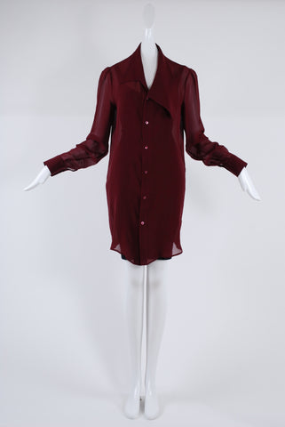Jessica Choay Reckless Shirt in Wine