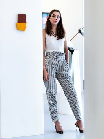 Octavio Pizarro High waist trousers