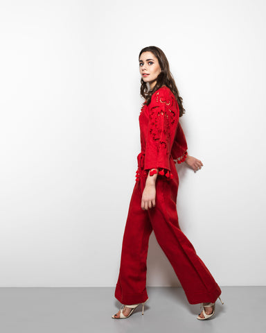 My Sleeping Gypsy Rosha Long Jumpsuit in Red