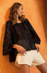 Sleeping Gypsy Provence Blouse in Black