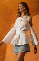 Sleeping Gypsy Monaco Blouse in Light Blue