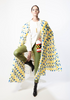 WEI Weisheng  Feather Cape In Yellow and Blue