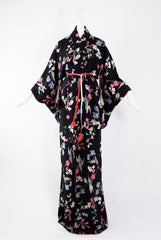Kisshoten Long Vintage Kimono in Black