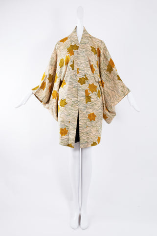Kisshoten Haori with Leaves Print
