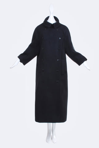 Dorothée Vogel Black Swing Coat Long