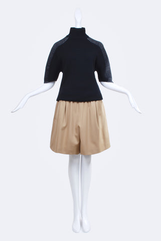 Dorothée Vogel Wool Shorts Beige