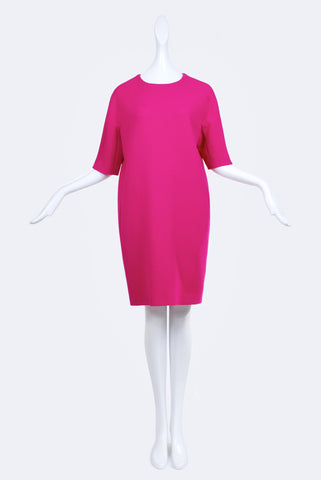 Dorothée Vogel Cool Wool Dress Fuchsia