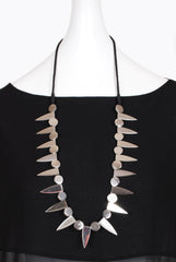 Anu En Inde Single Row Steel Necklace