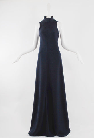 Diane Misetic Long Dress Navy