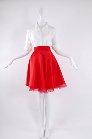 Jessica Choay Docile Skirt in Red