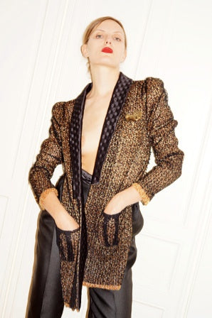 Tweed Lace Bowy Jacket