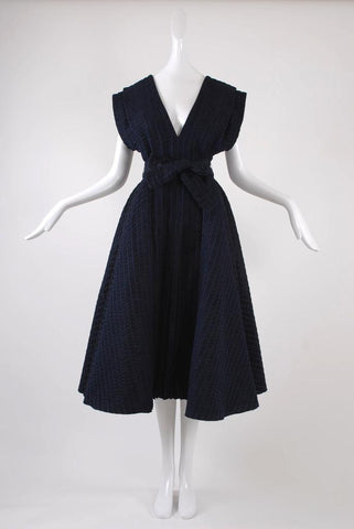 Isabel Toledo Pleated Taffeta Dress
