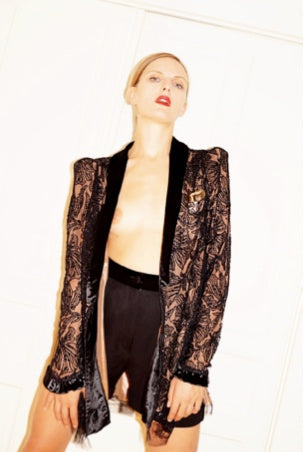 Black Lace Bowy Jacket