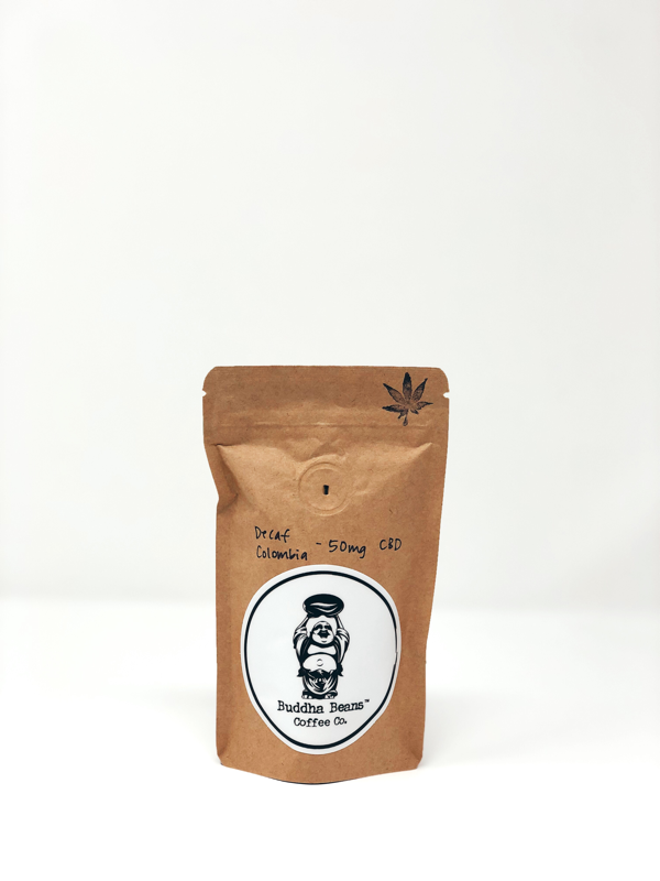 Decaf Colombia CBD Infused Coffee Beans