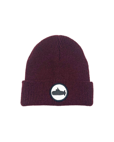Burgundy Beanie Patch