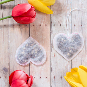 5 Pink Heart Shaped Tea Bags, Tea Bags, Brin d'Arômes